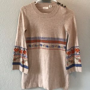 Anthropologie Boho Sweater with Bell Sleeves